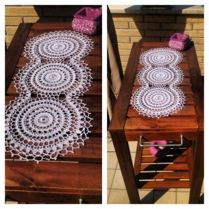 Doily- crochet table runner