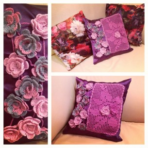 Rose garden pillow