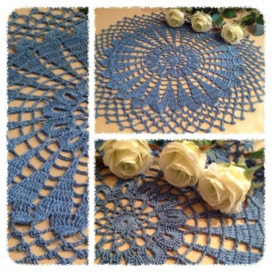 Grey blue doily