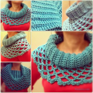 Turquoise snood