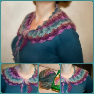 Crochet collar (fan stitches)