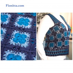 Blue Sleeveless Vest