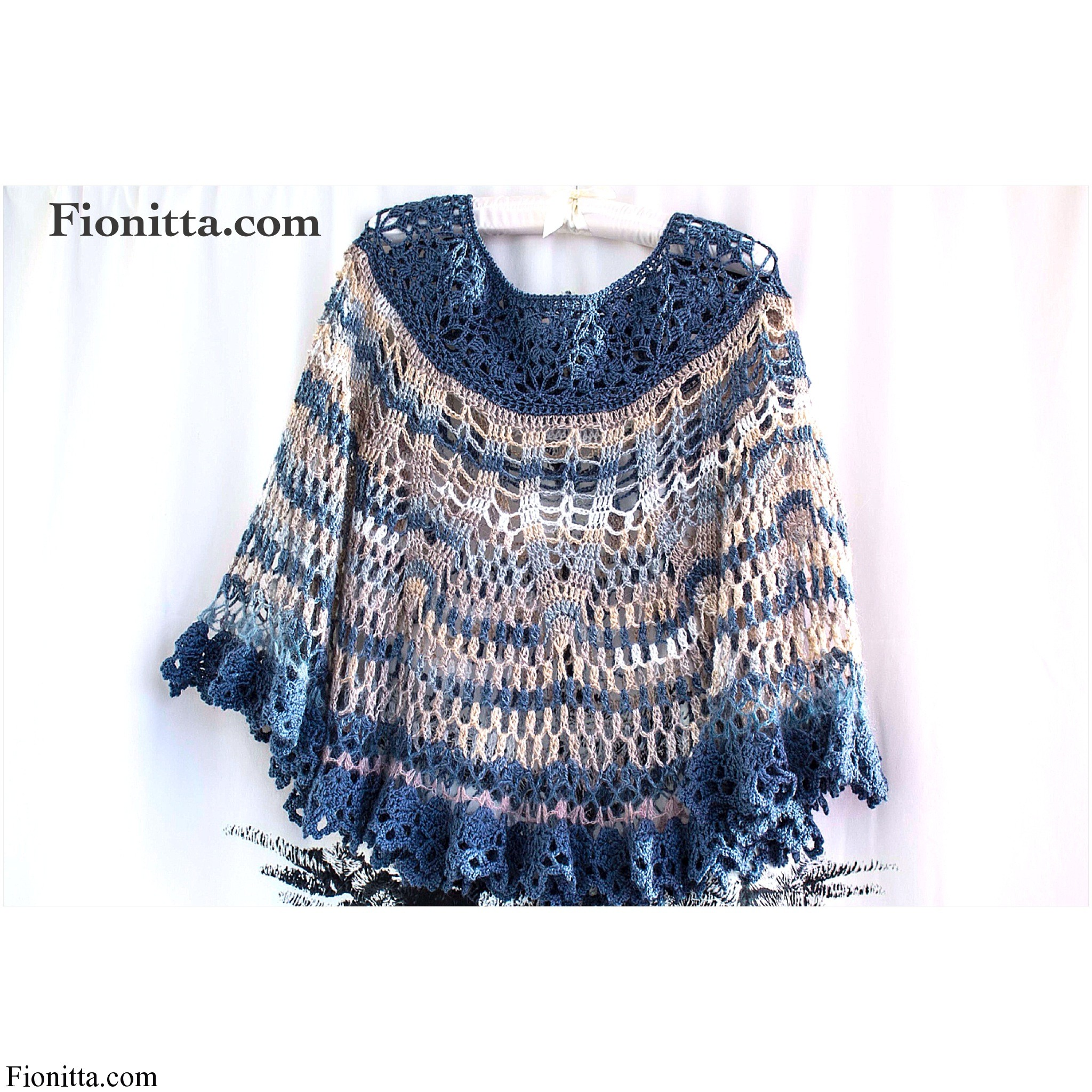 Transforming Old Shawl into New Poncho – Capelet