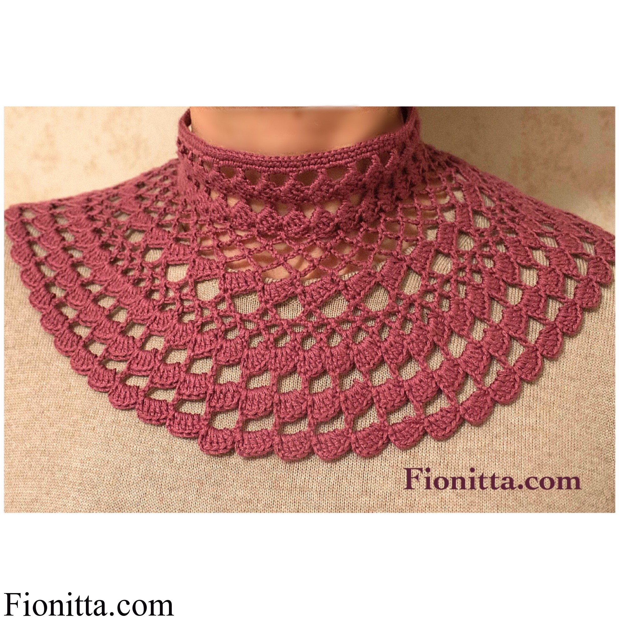 Dusty pink collar