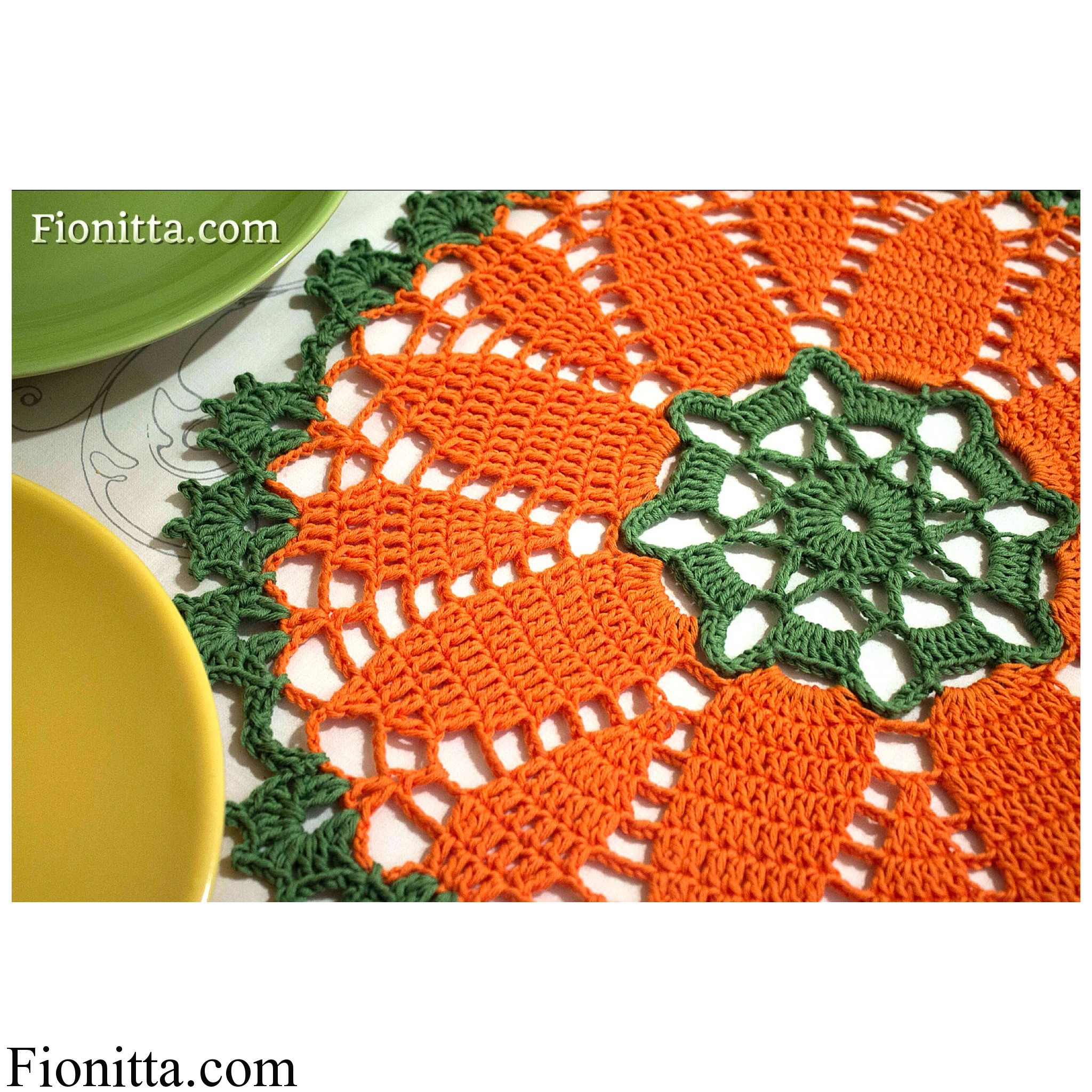 My crochet carrot doilies
