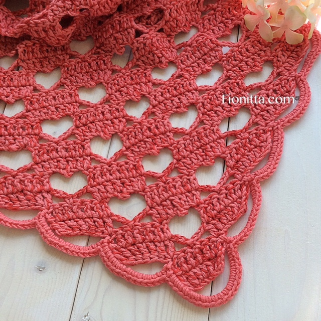 Shawl Hello March With Hearts By Fionitta Fionitta Crochet