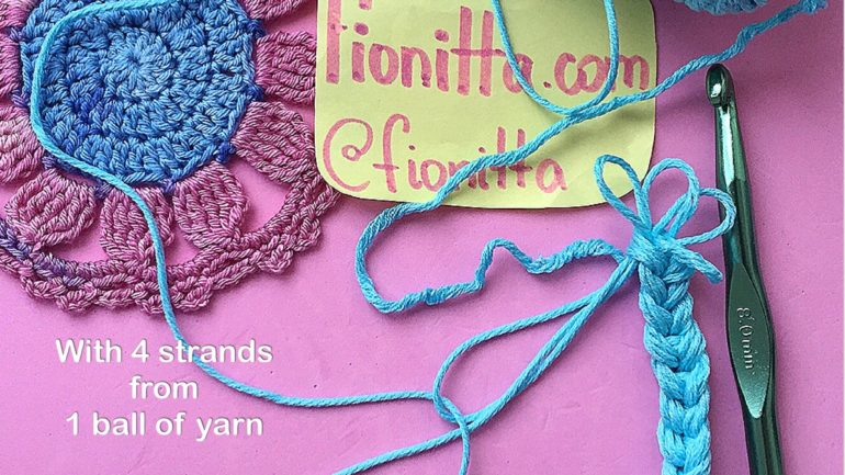 How to crochet with several strands from one ball of yarn?