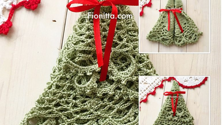 How to fold crochet doily for presents