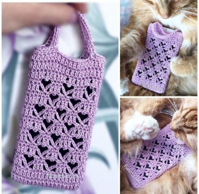 Crochet Hearts case