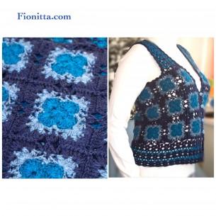 Blue Sleeveless Vest