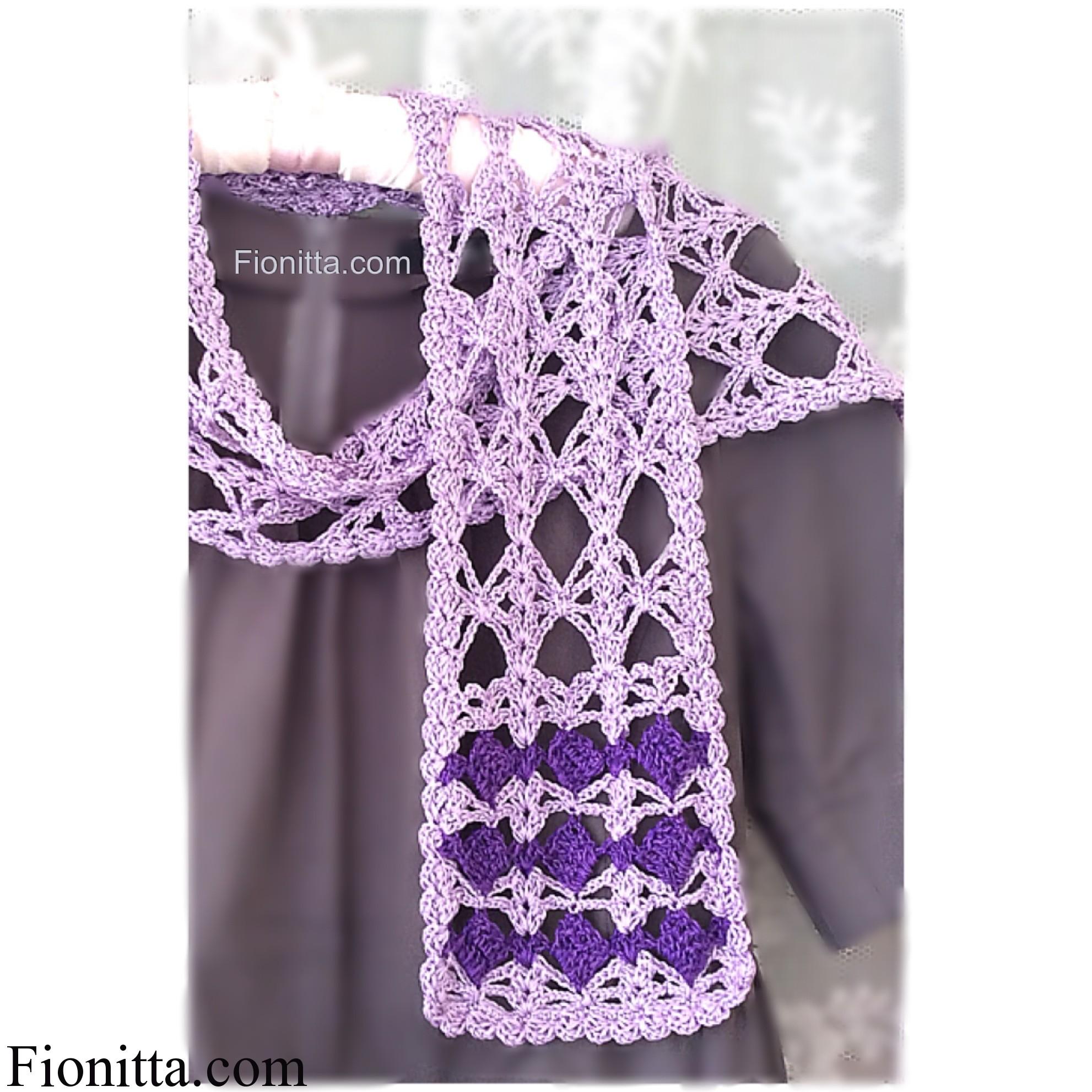 Violet summer scarf