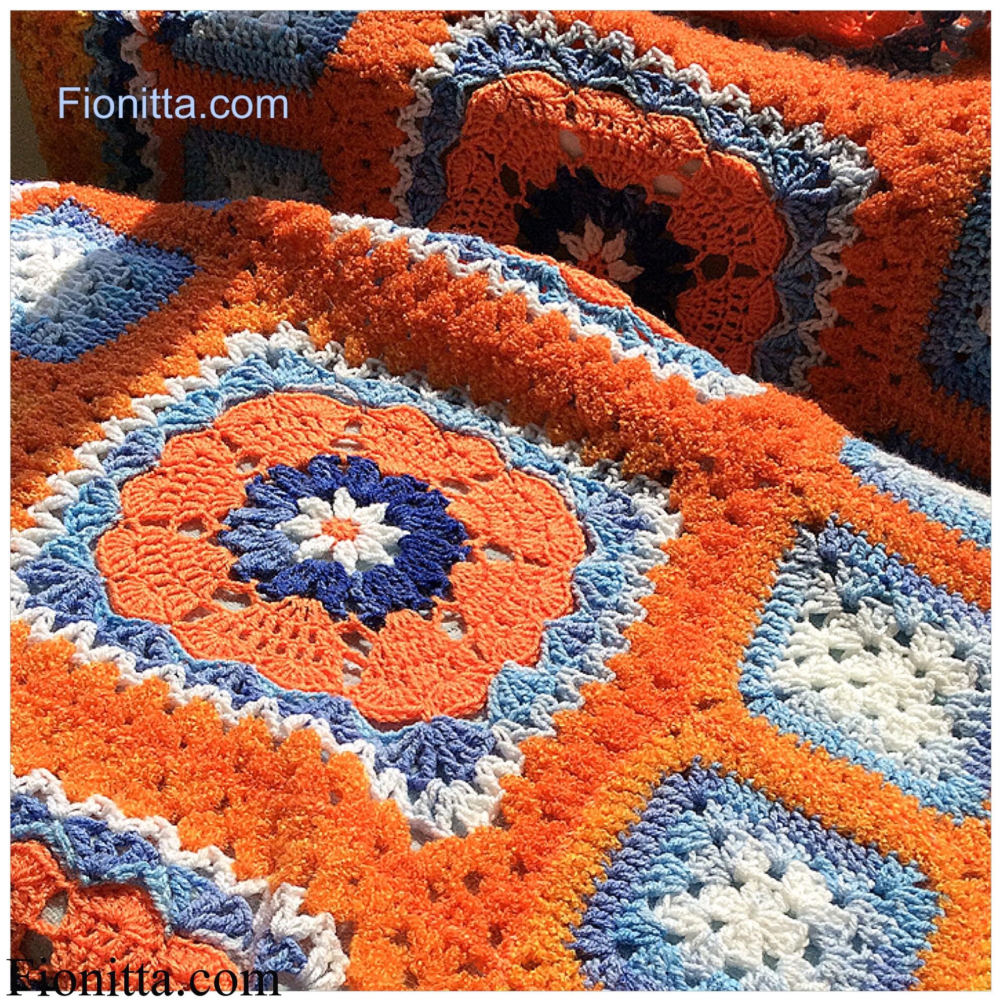 Blue orange blanket