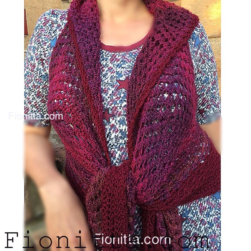 Granny triangle shawl